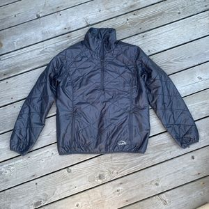 L.L. Bean Primaloft 1/2 zip packable pullover